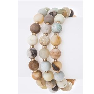 Just In! Price Firm! Mix Amazonite Beads Stretch